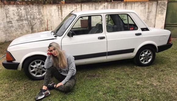 Luly Basile quería, desde hace muchos años, poseer un Fiat 128. (Foto: @lulybasile   Instagram)