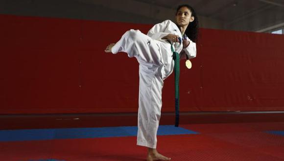 Angélica Espinoza ganó el oro en Para taekwondo. (Foto: GEC)