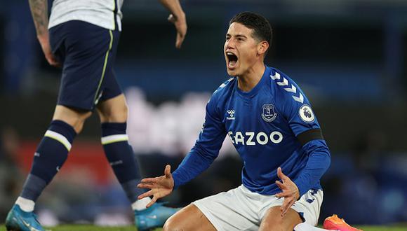 James Rodríguez llegó a Everton en la temporada 2020-2021. (Foto: Getty Images)
