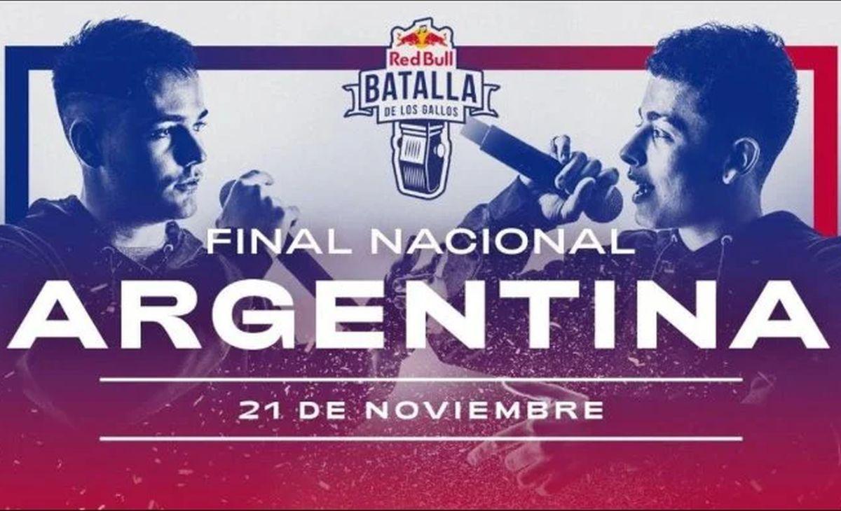 Cartel oficial de la Red Bull Batalla de los Gallos Final Nacional Argentina 2020 (Foto: Red Bull)