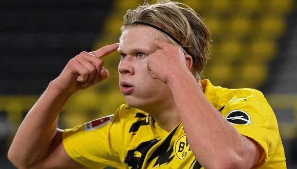 Erling Haaland juega por Borussia Dortmund desde el inicio del 2020. (Foto: AFP)