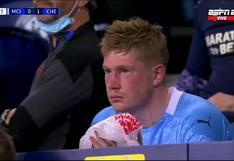 Así terminó Kevin De Bruyne tras choque con Rüdiger en el Manchester City vs. Chelsea [VIDEO]