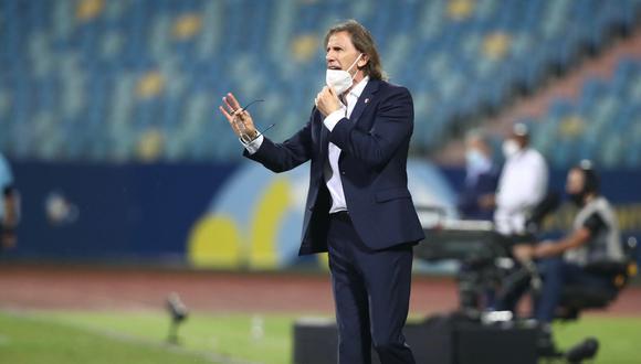 Ricardo Gareca aguantó los cambios hasta el final del Perú vs. Colombia (Foto: @SeleccionPeru)