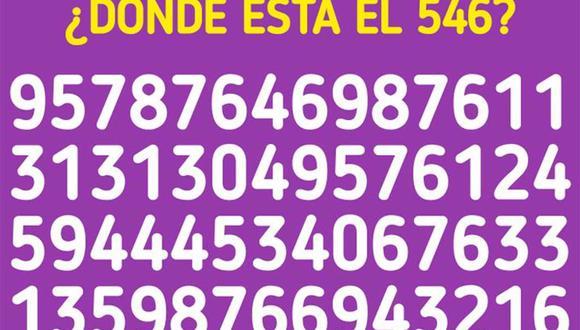 ¿Puedes ver dónde está el número 546 en la imagen? Muy pocos lograron resolver este acertijo lógico. | Foto: genial.guru