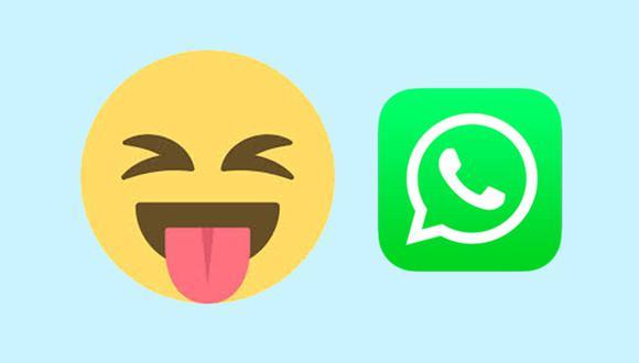 ¿Sabes realmente qué es lo que quiere decir la carita con lengua afuera de WhatsApp? Aquí te lo explicamos. (Foto: WhatsApp)