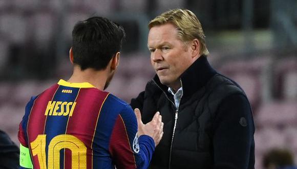 Koeman llegó al Barcelona en reemplazo de Setién. (Foto: AFP)