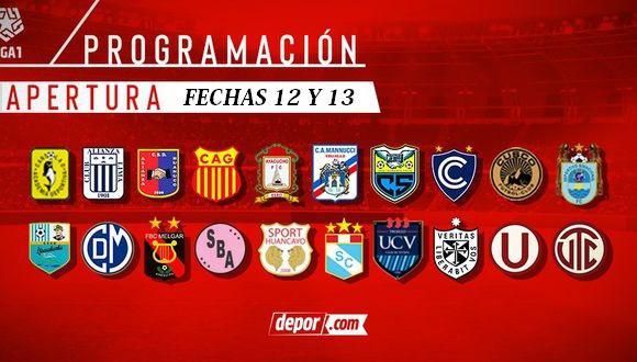 Programación fechas 12 y 13 de la Liga 1 (Diseño: GEC)