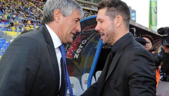 Simeone respondió al mensaje del padre de Griezmann sobre Setién. (Foto: EFE)
