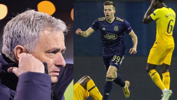 José Mourinho sufrió una dura eliminación de la Europa League. (Fotos: Agencias)
