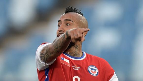 Arturo Vidal fue titular en el 1-1 entre Chile y Uruguay. (Foto: AFP)