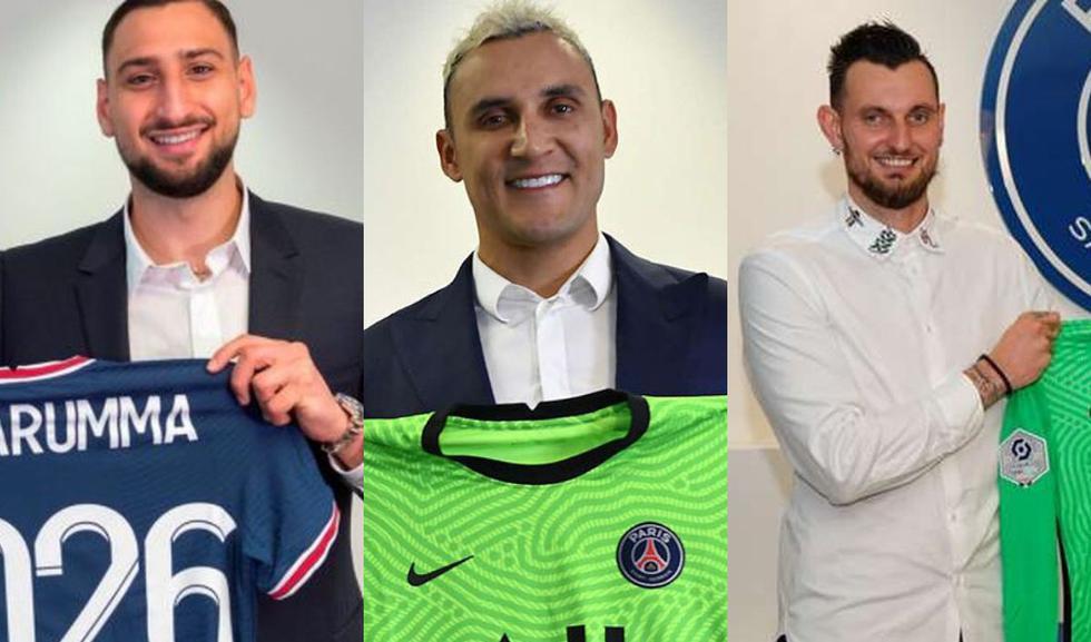 Los nueve porteros del PSG para la presente temporada.