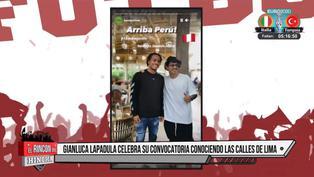 Gianluca Lapadula disfrutó de su visita por el Centro de Lima