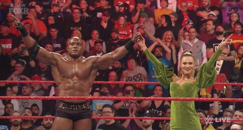 Bobby Lashley (con Lana) derrotó a R-Truth. (Foto: WWE)