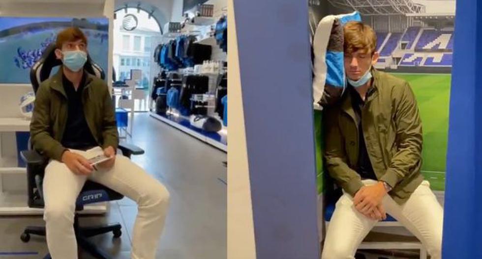 Futbolista del Atalanta esperó que alguien compre una camiseta con su nombre y se queda dormido