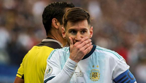 Lionel Messi se fue expulsado a los 37 minutos en el Argentina vs. Chile. (Getty)