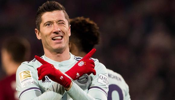 Robert Lewandowski logró anotar 41 goles esta temporada y estableció récord. (Foto: AFP)
