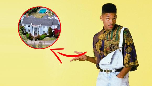 """Así luce actualmente la mansión donde se grabó """"El príncipe del rap"""". (Foto: Netflix)"""