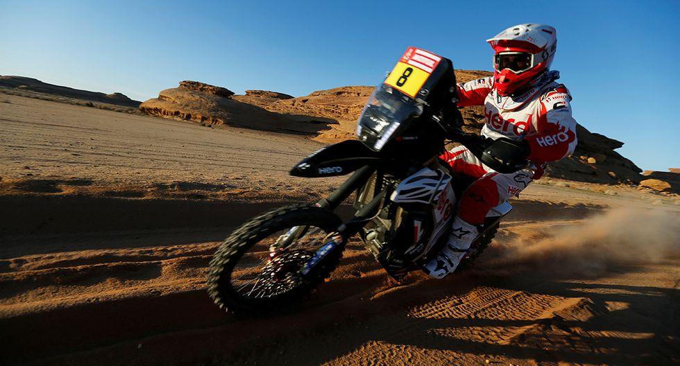 Paulo Goncalves del Team Motosports Rally Hero durante la etapa 5 del rally Dakar. El piloto portugués falleció este domingo. (Foto: Reuters)