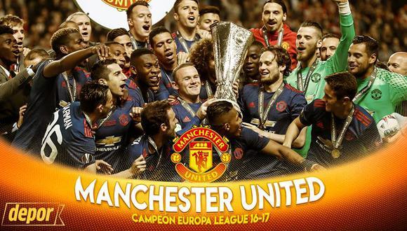 Manchester United logró un nuevo título internacional luego de nueve años, desde el Mundial de Clubes 2008. (Diseño: Marcelo Hidalgo)