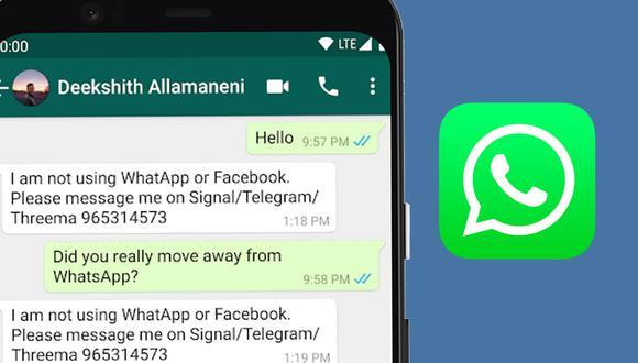 Conoce el método para informar a tus amigos que no usará WhatsApp a partir del 15 de mayo. (Foto: Depor)