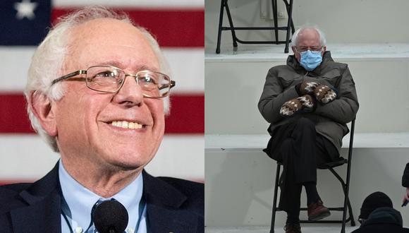 La foto del 'look' del senador independiente por Vermont sentado sobre una silla plegable en la ceremonia de la inauguración de Joe Biden como presidente de los Estados Unidos sigue dando que hablar. | Crédito: Bernie Sanders / Facebook / AFP.