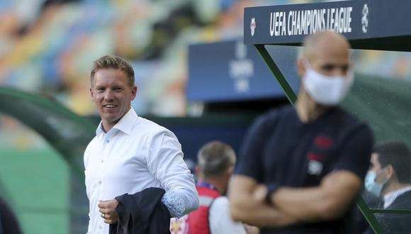 Julian Nagelsmann clasificó a Leipzig a la semifinal de la Champions League. (AP)