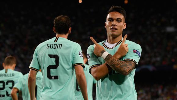 Lautaro Martínez anotó en el duelo del Camp Nou en la ida de la fase de Grupos. (Getty)