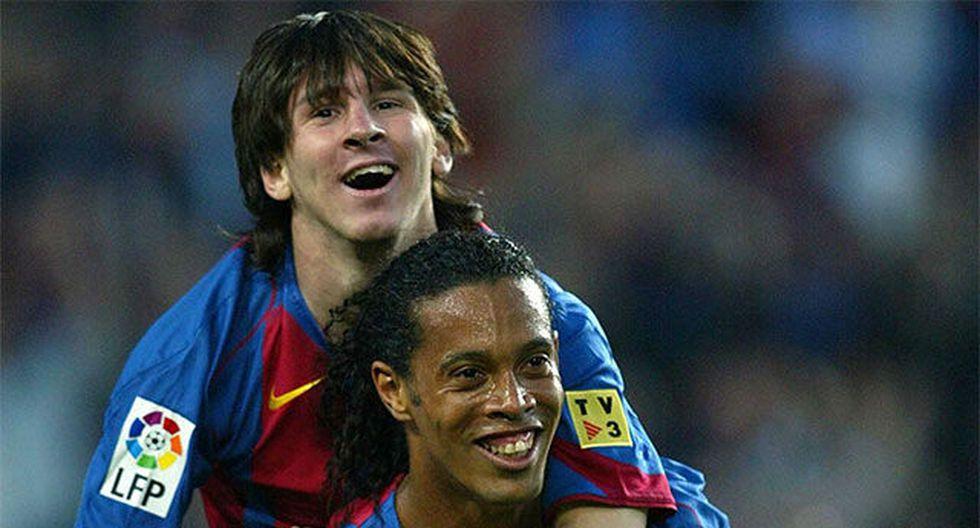 1er gol con Barcelona en 2005. (Foto: Agencias)