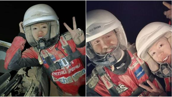 Fernanda Kanno corre junto a su copiloto Alonso Carrillo el Rally Dakar 2019. (Instagram)