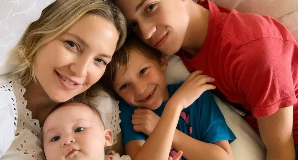 Kate Hudson comparte amorosa fotografía con su esposo e hijos (Foto: Instagram)