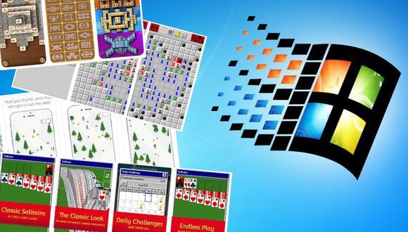 Vuelve a jugar clásicos de Windows como Solitario, Buscaminas, SkiFree, entre otros, en cualquier parte usando tu celular. (Foto: Composición/USI)