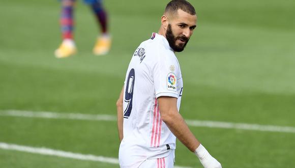 Karim Benzema todavía es duda en Real Madrid para medirse a Inter de Milán en Champions League. (Foto: AFP)