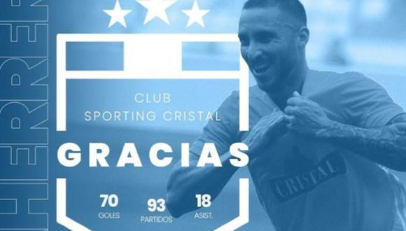 Emanuel Herrera se despidió de la hinchada de Sporting Cristal. (Foto: Instagram)