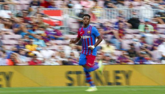 Ansu Fati volvió a jugar con Barcelona tras 322 días y anotó un gol. (Foto: AP)
