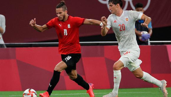 España, favorita en esta contienda, no pudo sumar su primer victoria ante Egipto en Tokio 2020. (Foto: AFP)
