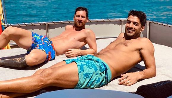 Messi y Suárez durante sus vacaciones del año pasado. (Foto: Instagram Luis Suárez)