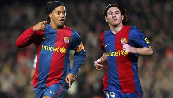 El saludo de Ronaldinho Gaúcho a Lionel Messi por su cumpleaños. (Foto: FC Barcelona)