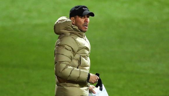 Diego Simeone mantiene la calma a pesar de la ventaja en la tabla. (Foto: EFE)
