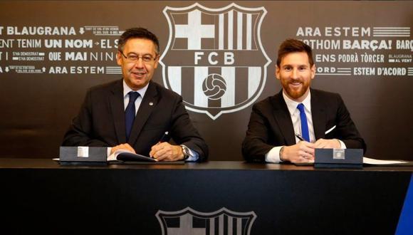 Lionel Messi tiene contrato con el Barcelona hasta junio de 2021. (Foto: FC Barcelona).