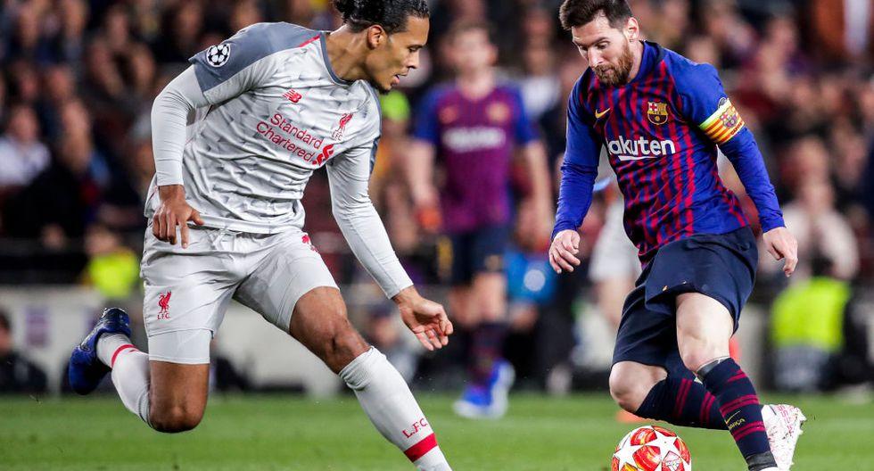 Leo Messi venció a Van Dijk en la lucha por el Balón de Oro. (Getty)