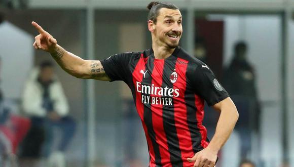 Zlatan Ibrahimovic renovó contrato hace poco. Permanecerá en el Milan hasta el 2022. (Foto: Agencias)