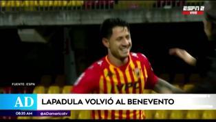 Gianluca Lapadula se presentó a los entrenamientos del Benevento de Italia