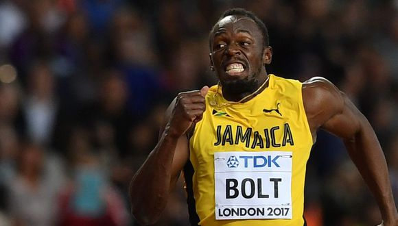 Usain Bolt llegó a Lima este martes 2 de abril por la tarde. (Foto: AFP)
