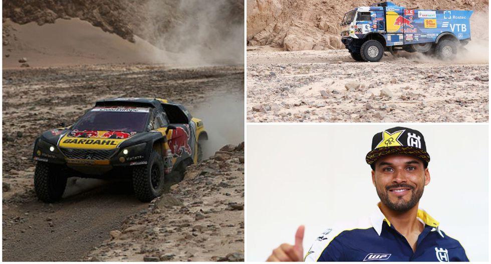 Los ganadores de la sexta etapa del Dakar 2019. (Getty Images)
