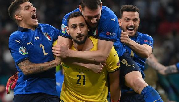 Donnarumma le atajó a Saka el penal decisivo que significó el triunfo de Italia. (Foto: AFP)