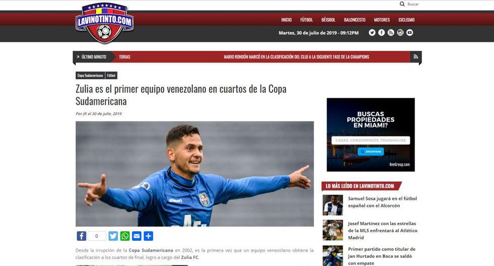 La reacción de la prensa internacional tras la eliminación de Sporting Cristal en la Sudamericana. (Foto: Internet)