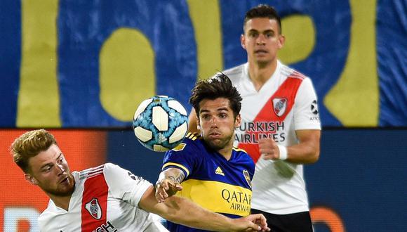 Boca vs River juegan en la Bombonera por la Copa Maradona. El partido se juega vía FOX Sports Premium y aquí te indicamos cómo ver el partido de fútbol en vivo online. (Foto: AFP)