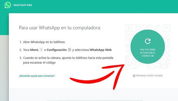 ¿Por qué no ves el código QR de WhatsApp Web? Esta es la respuesta. (Foto: Depor)