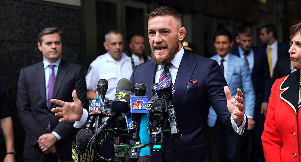 Conor McGregor pudo ir a prisión tras atacar brutalmente un bus de la UFC. (AFP)