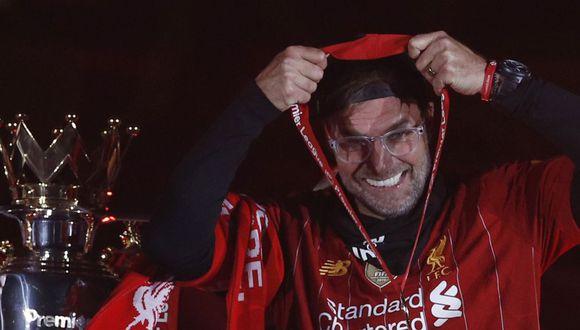 Jurgen Klopp suma dos títulos con el Liverpool: Champions y Premier League. (Foto: AFP)